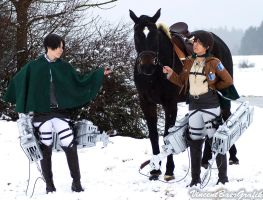 Eren and Rivaille - SnK Cosplay by K-I-M-I
