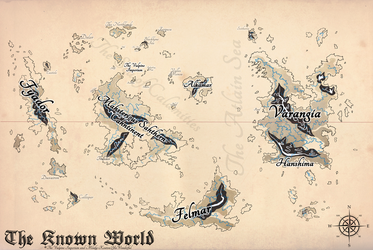 The Vulpine Imperium Map - Ye Olde Style by Bucketfox