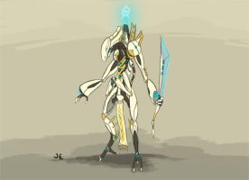 Warframe Fanart - Orokin Guardian Unit by Krion112