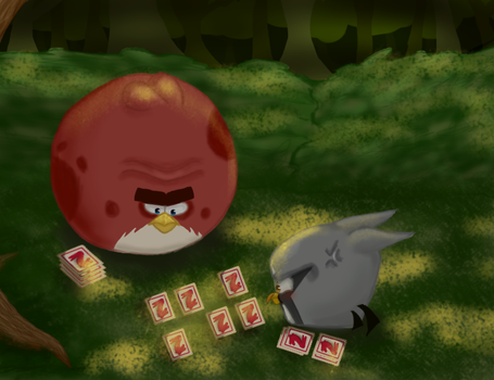 Terence And Silver Playing Memory Cards by Agi6