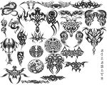 Tribal brush set 1 by agzamoth