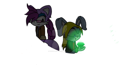 Artemis and Saighdeoir Sticker by pandatron03
