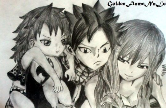 One Happy Family~ by GoldenFlameNaLu