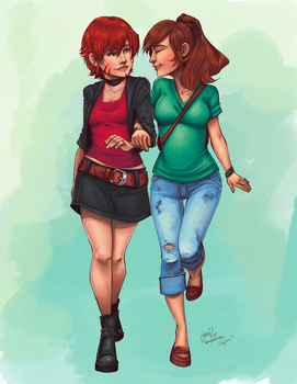 Out on the Town by imafrakkincylon