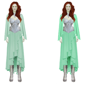 Wraith Queen Snowflake in mint dress - 2 versions. by utan77
