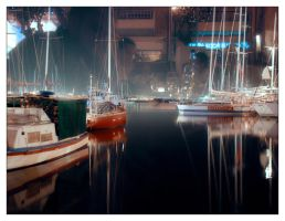 Piraeus Dining in Reflection by triponics