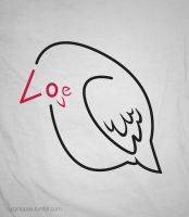 love bird typography by Turqoose