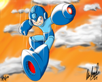 Rock From Megaman Color by l3xxybaby