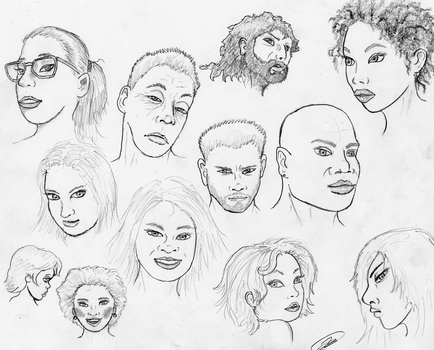 Face Sketches 180220 by TheMightyGorga