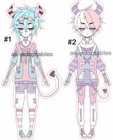 pastel goth demon boys closed by AS-Adoptables