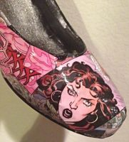 Scarlet Witch Custom Comic Shoes #2 by kamiki