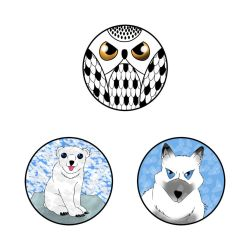 Designer jewelry set bear, fox and owl by Jonas-D