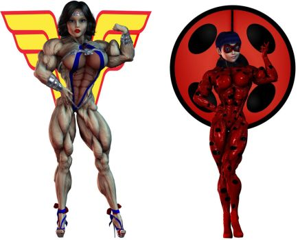 STRONGER OF THE STRONGEST-Wonder Woman vs Ladybug by Hellequin11