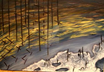 Winter River Abstracted by Phoenixhouse88