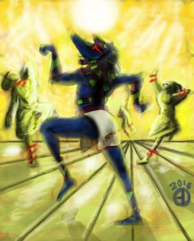 Anubis, the god of raves by MrMatsui