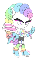 SPECIAL! Sonic OC Unicorn #1 - Rainbow Or Cloudy! by sarahlouiseghost
