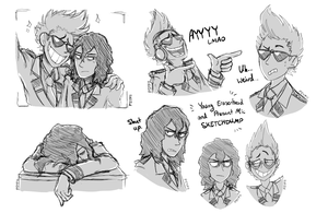 Young Eraserhead and Present Mic SKETCHDUMP by Psychia98
