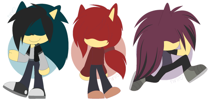 Chibiwis -Axel, Rosewood, and Revan by SapphireShoelacesXD