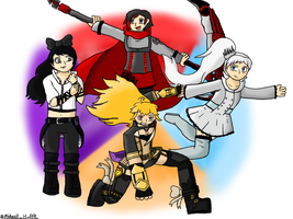 Go Team RWBY! (RWBY) by MichaelH-Art