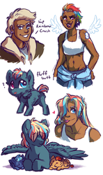 Rainbow Family Doodles by Lopoddity
