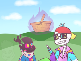 Day 4 Picnicking [FreshPaper] by UniverseCipher