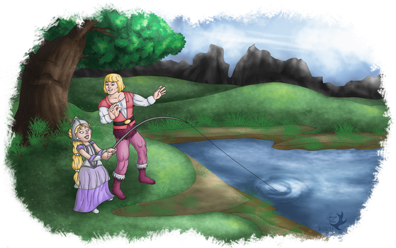 Commission - Fishing Lessons by Jammerlee