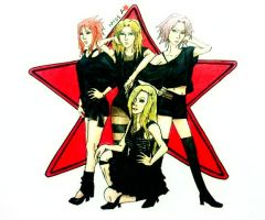 Naruto girls as Miss A by Amira-Amilia