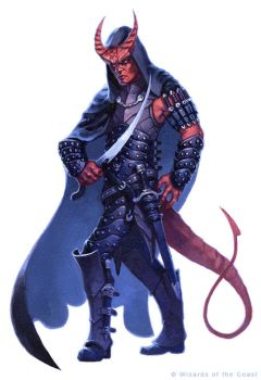 Tiefling Rogue by alexstoneart