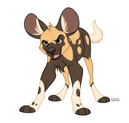 African Wild Dog Puppy by faithandfreedom