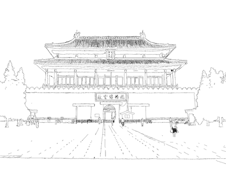 Chinese Palace Sketch by apocalypse139