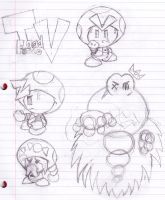 Toad Force V Sketches by ZeoLightning