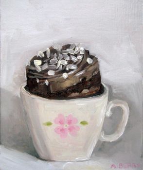 cup cake small oilpainting by gurliebot