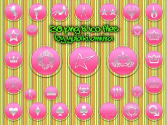 pretty pink icons by amirajuli