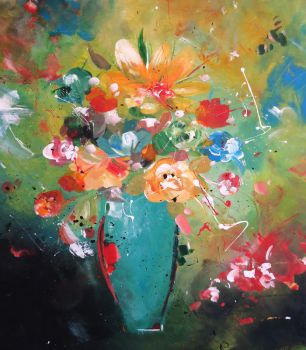 Abstact flowers III by Ariane-S