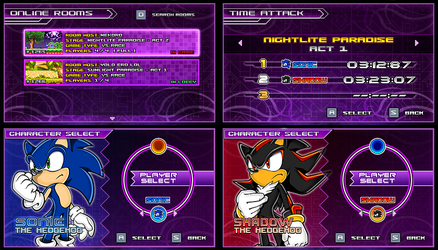 (Sonic vs Darkness) New Menu Design Compilation P2 by Kainoso