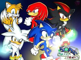 Sonic and the power holders: some heroes by FANTASY-WORKS-JMBD