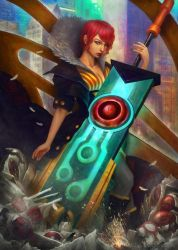 Red: Transistor by gtneoart