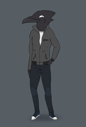 Common Raven Bird Sona by Flight-Level