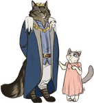 King Whiskers And Princess by AnnMY