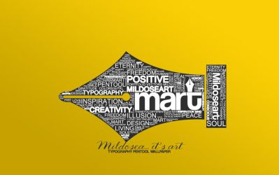 MART typography wallpaper v2 by Milenist