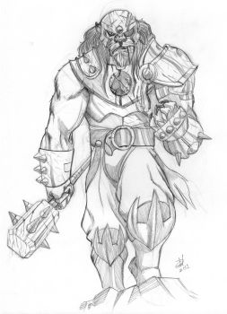 Grune Sketch - ThunderaFriday by EdPalhares