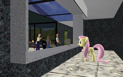 Fluttershy ported for use in Activeworlds by pizzalover53