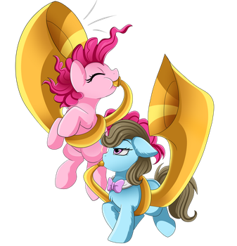 Comm: Pinkie and Beauty Brass by pridark