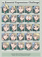 - 25 expressions challenge by Jennaris