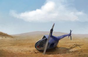 Crashed heli by EthicallyChallenged