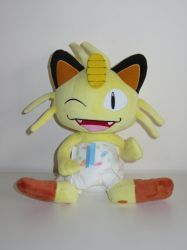 Diapered Meowth Plushie! by ryanthescooterguy