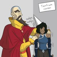 Korra's timeout corner. by murrlogic1