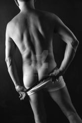 Black and White Male (Almost) Nude by Ange1ica