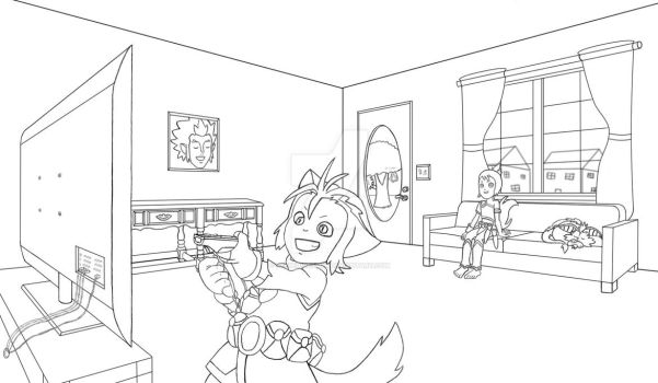 WilyKat Playing Wii by ReeseRiverson