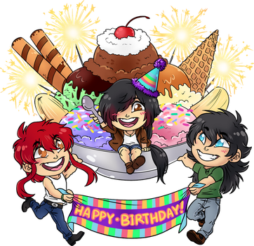 Happy Bday Kidoairaku by Ace-Zaslavsky